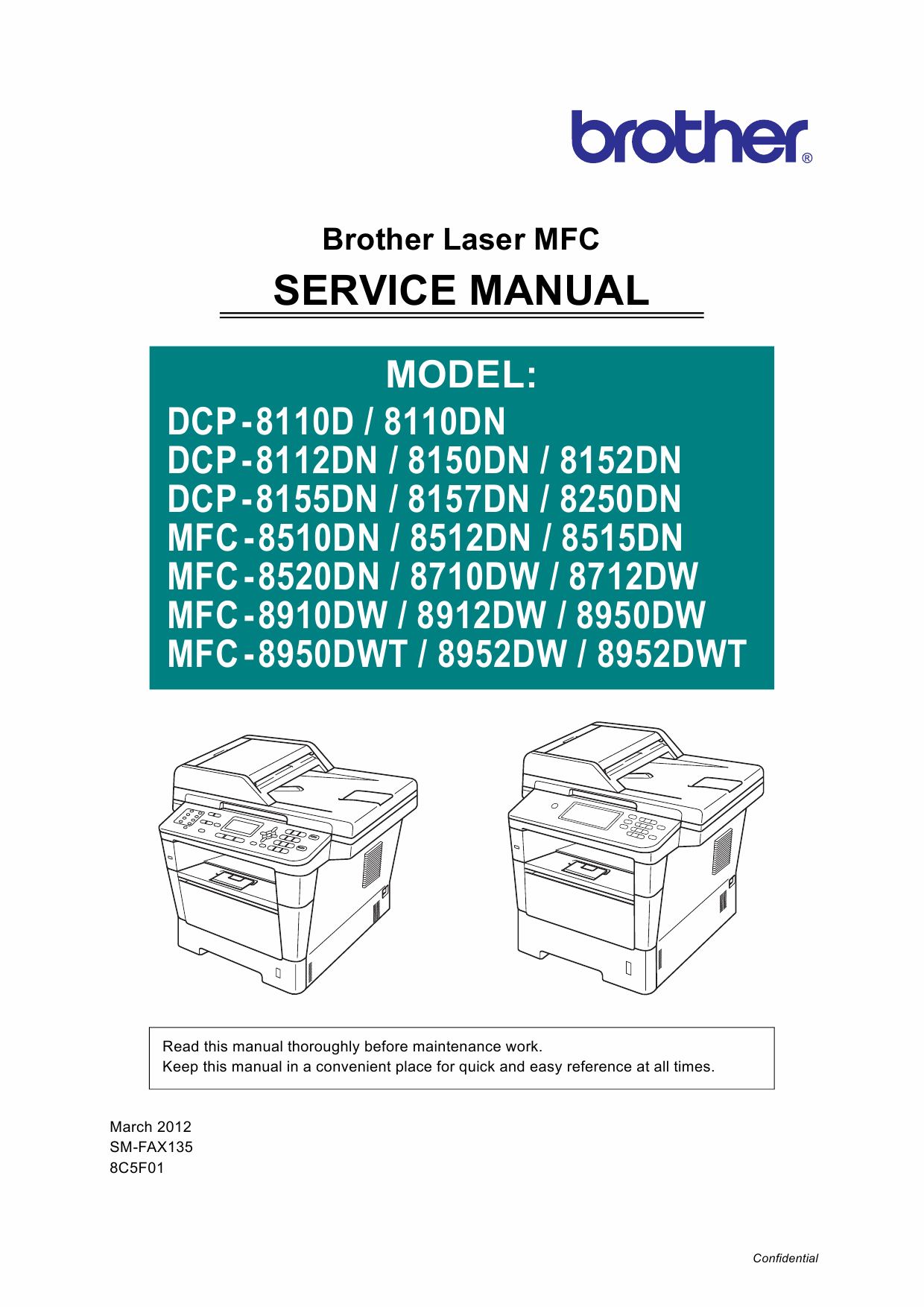 Brother mfc-8520dn service manual онлайн [20/373].